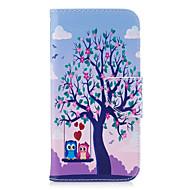 Недорогие Чехлы и кейсы для Galaxy A5(2016)-Кейс для Назначение SSamsung Galaxy A5(2017) A3(2017) Кошелек Бумажник для карт со стендом Флип Рельефный С узором Чехол Сова Твердый