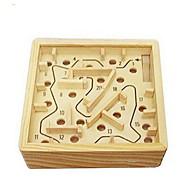 お買い得  おもちゃ & ホビーアクセサリー-木製の迷路 ボードゲーム ボール 迷路 ウッド 小品 男女兼用 成人 ギフト