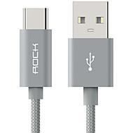 ROCK USB 2.0 Kabel, USB 2.0 to USB 2.0 Type C Kabel Hann - hann 1,0 m (3 ft)