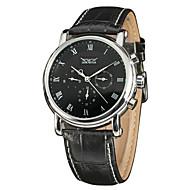 levne Šperky&Hodinky-Pánské Náramkové hodinky Automatické natahování 30 m Žhavá sleva Pravá kůže Kapela Analogové Přívěšky Módní Hodinky k šatům Vícebarevný - Bílá Černá