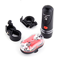 お買い得  フラッシュライト/ランタン/ライト-自転車用ヘッドライト / 後部バイク光 / 充電式自転車ライトセット 自転車用ライト サイクリング クリップ バッテリー 屋外