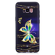 Недорогие Чехлы и кейсы для Galaxy S8 Plus-Кейс для Назначение SSamsung Galaxy S8 Plus S8 С узором Кейс на заднюю панель Бабочка Мягкий ТПУ для S8 Plus S8 S7 edge S7