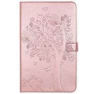 Til Samsung Galaxy Tab T580 T280 Taske Cover Kort Holder Tegnebog med Stand Flip Prægede Full Body Case Tree Cat Butterfly Hard PU Læder