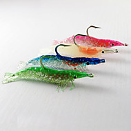 お買い得  釣り用アクセサリー-個 ソフトベイト エビ Jig Head リード シリコン 夜光計 ベイトキャスティング 一般的な釣り ルアー釣り