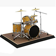 cheap Toys & Hobbies-3D Puzzles Paper Model Toy Instruments Model Building Kits Paper Craft Square Musical Instruments Drum Set 3D Simulation DIY Furnishing