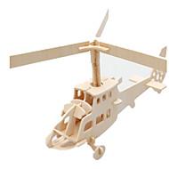 abordables Juguetes y juegos-Puzzles 3D Puzzle Maquetas de madera Aeronave Edificio Famoso Helicóptero Manualidades Madera Clásico Niños Unisex Regalo