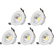 Oświetlenie downlight LED Ciepła biel Zimna biel LED 5 sztuk