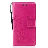 Назначение Чехлы панели Кошелек Бумажник для карт со стендом Флип Рельефный С узором Магнитный Чехол Кейс для Бабочка Цветы Твердый