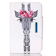 For Samsung Galaxy Tab A 9.7 Tab E 9.6 Case Cover Sika Deer Pattern PU Skin Material Samsung Flat Protective Shell  Tab A 8.0 Tab 3 Lite Tab 4 10.1