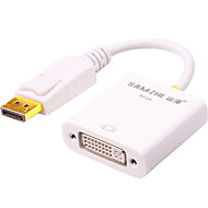 Недорогие DisplayPort-DisplayPort Адаптер, DisplayPort к DVI Адаптер Male - Female Позолоченная медь 0.25m (0.8Ft)