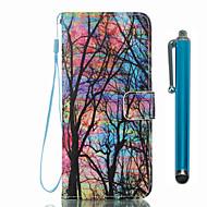 Недорогие Чехлы и кейсы для Galaxy S8 Plus-Кейс для Назначение SSamsung Galaxy S8 Plus S8 Бумажник для карт Кошелек со стендом Флип С узором Чехол дерево Твердый Кожа PU для S8
