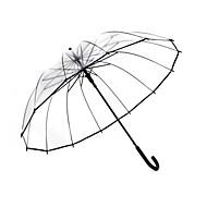 Недорогие Защита от дождя-пластик Муж. / Жен. / Мальчики Солнечный и дождливой Зонт с длинной ручкой
