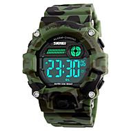 Недорогие Фирменные часы-SKMEI Муж. Спортивные часы Армейские часы Наручные часы Японский Цифровой 50 m Защита от влаги Будильник Календарь PU Группа Цифровой Мода Разноцветный - Камуфляж Зеленый Два года Срок службы батареи