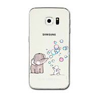 voordelige Galaxy S7 Edge Hoesjes / covers-hoesje Voor Samsung Galaxy S8 Plus S8 Transparant Patroon Achterkant Olifant Cartoon Zacht TPU voor S8 Plus S8 S7 edge S7 S6 edge plus S6