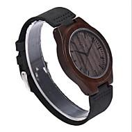 お買い得  -男性用 腕時計 ウッド 日本産 クォーツ 木製 本革 バンド Elegant ブラック ブラウン