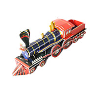 olcso Játékok & hobbi-Játékautók 3D építőjátékok Fejtörő Vonat 3D DIY Kiváló minőségű papír Klasszikus Vonat Fiú Uniszex Ajándék