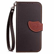 Недорогие Чехлы и кейсы для Galaxy Note 2-Кейс для Назначение SSamsung Galaxy Кошелек / Бумажник для карт / со стендом Чехол Однотонный Твердый Кожа PU для Note 5 / Note 4 / Note 3