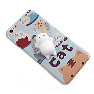 Til Etuier Mønster GDS squishy Bagcover Etui Kat Tegneserie Blødt TPU for Apple iPhone 7 Plus iPhone 7 iPhone 6 Plus iPhone 6s iPhone 6
