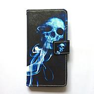 Кейс для samsung галактика s6 край plus s6 край кейс обложка держатель карты кошелек с подставкой флип-картинка полный корпус чехол череп