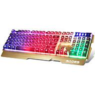 sades 104 keys usb port háttérvilágítású játék billentyűzet 180 cm-es kábellel