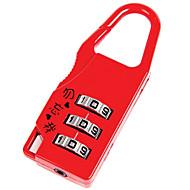 abordables Candados Mecánicos-0402 Candado Aleación de zinc Desbloqueo de contraseñas para Equipaje / Puerta / diario