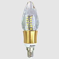 tanie Żarówki LED świeczki-5W E14 Żarówki LED świeczki C35 40 Diody lED SMD 2835 Ciepła biel Biały 550-600lm 2800-3200 6000-6500.