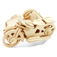 cheap Toy & Game-3D Puzzle Jigsaw Puzzle Metal Puzzle Wood Model Model Building Kit Moto DIY Wood Natural Wood Classic Kid's Adults' Unisex Gift