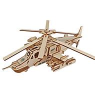 olcso Játékok & hobbi-3D építőjátékok Fejtörő Modeli i makete Repülőgép Harcos Shark 3D tettetés DIY Fa Klasszikus Uniszex Ajándék