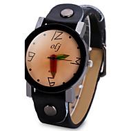Недорогие Женские часы-Жен. Уникальный творческий часы Модные часы Китайский Кварцевый Крупный циферблат Кожа Группа Cool Черный Белый