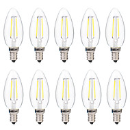 2W E14 LED Filament Bulbs C35 2 leds COB Dimmable Warm White White 200lm 2700-3200 6000-6500K AC 220-240V