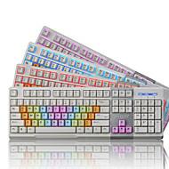Ajazz ak10 104keys usb przewodowa podświetlana klawiatura do gry z kablem 150cm