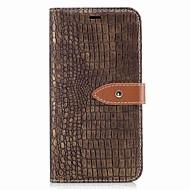 billige Mobilcovers-Etui Til LG K8 LG LG K7 Kortholder Pung Flip Magnetisk Fuldt etui Helfarve Hårdt PU Læder for LG K10 (2017) LG K8 (2017)