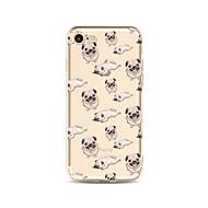 Недорогие Сегодняшнее предложение-Кейс для Назначение Apple iPhone X iPhone 8 Plus Прозрачный С узором Задняя крышка Плитка С собакой Мягкий TPU для iPhone X iPhone 8 Plus