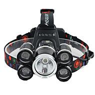 Lanternas de Cabeça Faixa Para Lanterna de Cabeça luzes de segurança LED 3000 Lumens 1 Modo Cree XM-L T6 Baterias não incluídas Controle