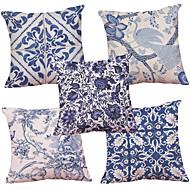 abordables Textiles para el Hogar-5 PC Felpilla Natural/Orgánico Cobertor de Cojín Funda de almohada,Con Texturas Retro Tradicional/Clásico Reforzar Euro Estilo playero