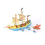 cheap Toys & Hobbies-3D Puzzles Jigsaw Puzzle Model Building Kits Ship 3D DIY High Quality Paper Classic Pirate 6 Years Old and Above
