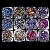 12PCS 1mm Hexagon Mixed Color Sequins