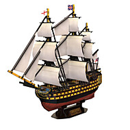 cheap Toys & Hobbies-3D Puzzles Jigsaw Puzzle Warship Ship 3D Natural Wood 6 Years Old and Above