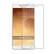 お買い得  Samsung 用スクリーンプロテクター-スクリーンプロテクター のために Samsung Galaxy C9 Pro 強化ガラス 1枚 スクリーンプロテクター ハイディフィニション(HD) / 硬度9H / 2.5Dラウンドカットエッジ
