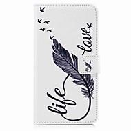 Кейс для Назначение SSamsung Galaxy S8 Plus S8 Кошелек Бумажник для карт со стендом Флип С узором Чехол  Перья Твердый Искусственная кожа