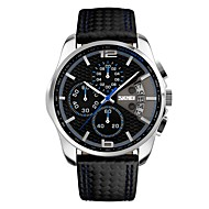 Недорогие Фирменные часы-SKMEI Муж. Наручные часы Японский Календарь / Защита от влаги / Хронометр Plastic Группа На каждый день / Мода Черный / Серебристый металл / Нержавеющая сталь / Фосфоресцирующий