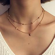 Women's Layered Necklaces Circle Oval Round Geometric Jewelry Alloy Tassel Costume Jewelry Fashion Bohemian Punk Personalized Luxury