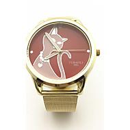 JUBAOLI 여성용 패션 시계 독특한 창조적 인 시계 중국어 석영 합금 밴드 골드
