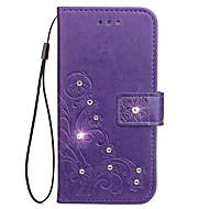 Недорогие Чехлы и кейсы для Galaxy Core Prime-Кейс для Назначение SSamsung Galaxy Бумажник для карт Кошелек со стендом Флип Рельефный Чехол Цветы Твердый Кожа PU для Grand Prime Core