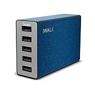 abordables Cargadores USB-Cargador usb 5 Puertos Estación de cargador de escritorio Con identificación inteligente Universal Adaptador de carga