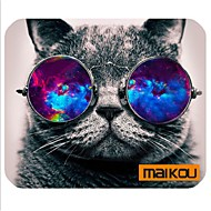 cheap Mice & Keyboards-Maikou Mouse Pad Cat Wears Eyeglasses PC Mat Computer Supply Accessory