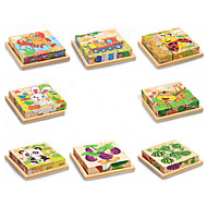 cheap Toys & Hobbies-3D Puzzles Jigsaw Puzzle Educational Toy Toys Rabbit Cat Animals Animals Wooden Wood Not Specified Children's Pieces