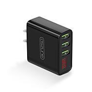 Φορτιστής USB 3 Θύρες Σταθμός φορτιστή γραφείου Με έξυπνη ταυτοποίηση Οθόνη LCD Με καλώδια φορτιστή Παγκόσμιο Φορτιστής προσαρμογέα