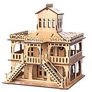 お買い得  おもちゃ & ホビーアクセサリー-3Dパズル ジグソーパズル 有名建造物 家 木製 天然木 男女兼用 ギフト