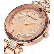 voordelige Modieuze horloges-Dames Unieke creatieve horloge Vrijetijdshorloge Modieus horloge Polshorloge Kwarts Roestvrij staal Band Amulet Luxe Creatief Informeel